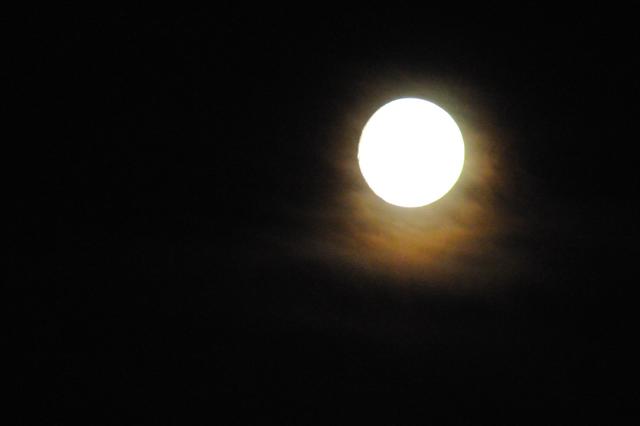 En fullmåne, annat fanns inte